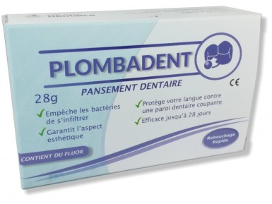 Pansement dentaire Plombadent