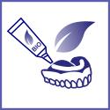 Colle dentaire plus naturelle et coussinet dentaire